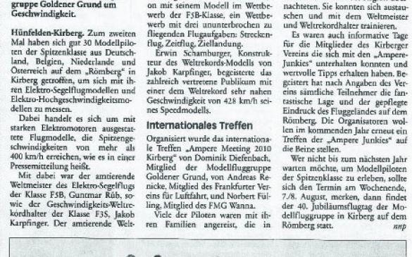 Presseartikel, Nassauische Neue Presse