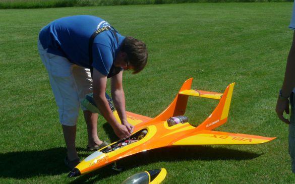 Andreas mit seinem Jet