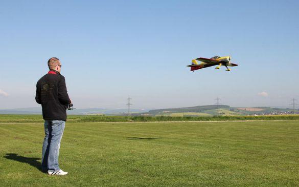 David im Anflug zum Ballonstechen