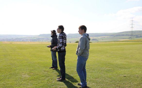 Junge Piloten beim Training