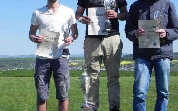 Die Gewinner: 1. Daniel Müller, 2. Noah Urban, 3. Lukas Wenzhöfer
