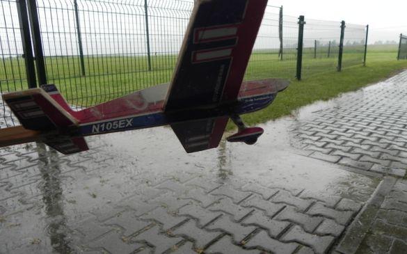 Den ganzen Morgen und Vormittag regnete es in Strömen