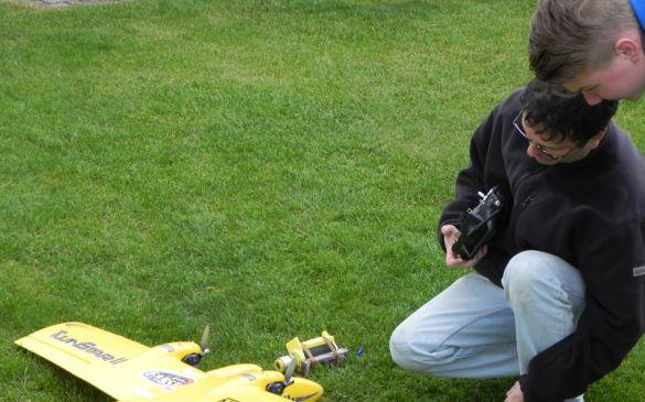 Der Ausfall eines Motors bereitete Michael einige Probleme beim Kunstflugprogramm.