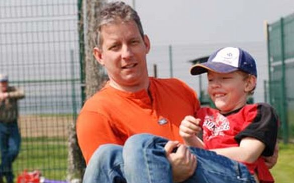 Jürgen mit seinem Sohn