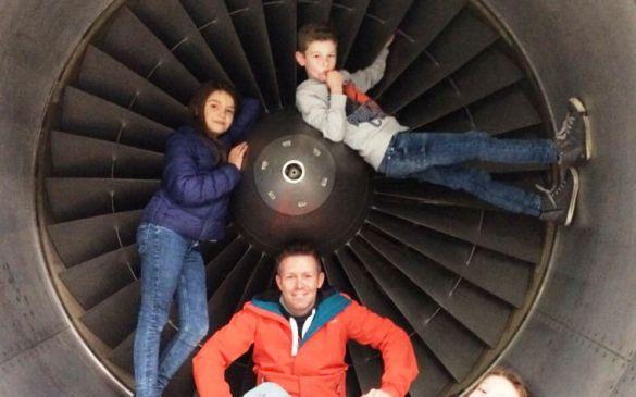 In der Turbine der 747