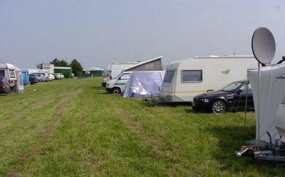 Der gut gefüllte Zeltplatz