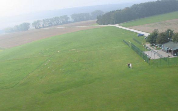 Blick über das Gelände aus Richtung NNO