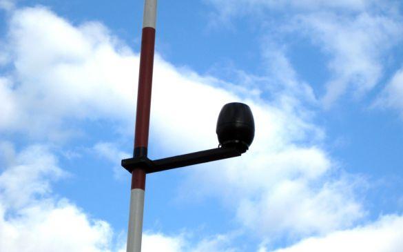 Regensensor, weiter unten am Mast