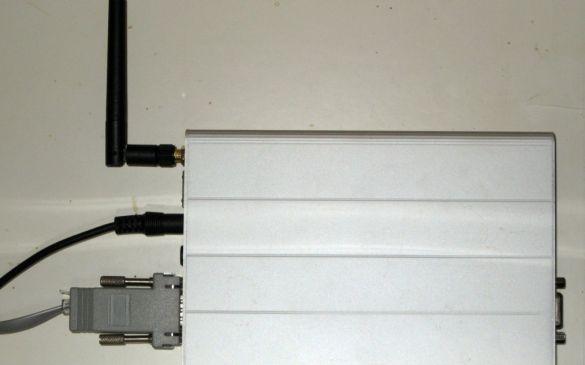 Linux-Rechner, der die Daten speichert, aufbereitet und ins Internet sendet