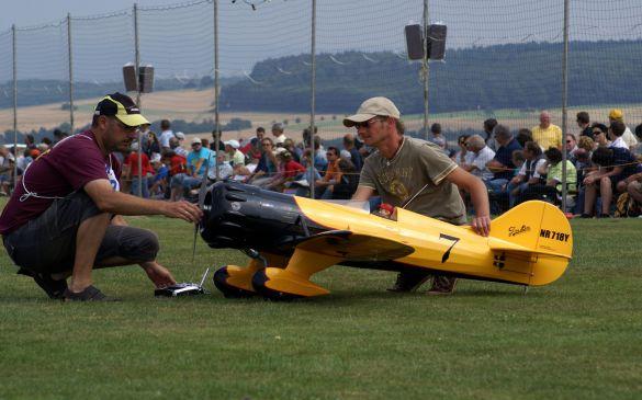 Flugtag 2009, Motor starten