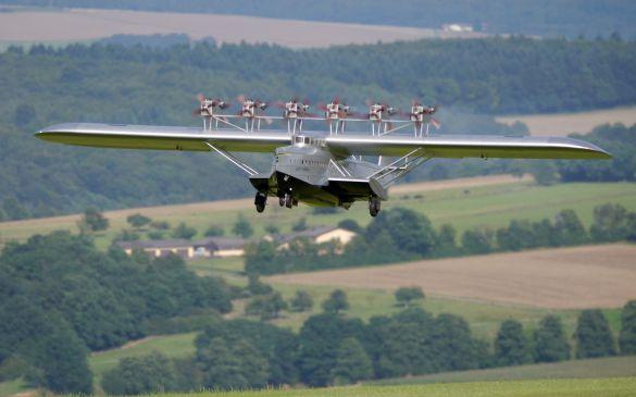 Flugtag 2014, Dornier Do X Verkehrsflugschiff, Landeanflug