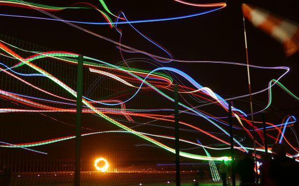 Flugtag 2015, Nachtflug Langzeitbelichtung