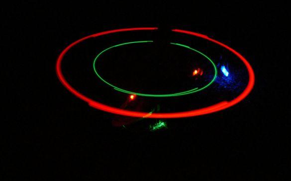 ...wodurch diese leuchtenden Kreise entstehen